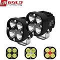 GOLDRUNWAY 40 W U3 Motorrad Scheinwerfer scheinwerfer 4200lm hilfs led-leuchten Nebel licht CNC gefräste Aluminium Gehäuse