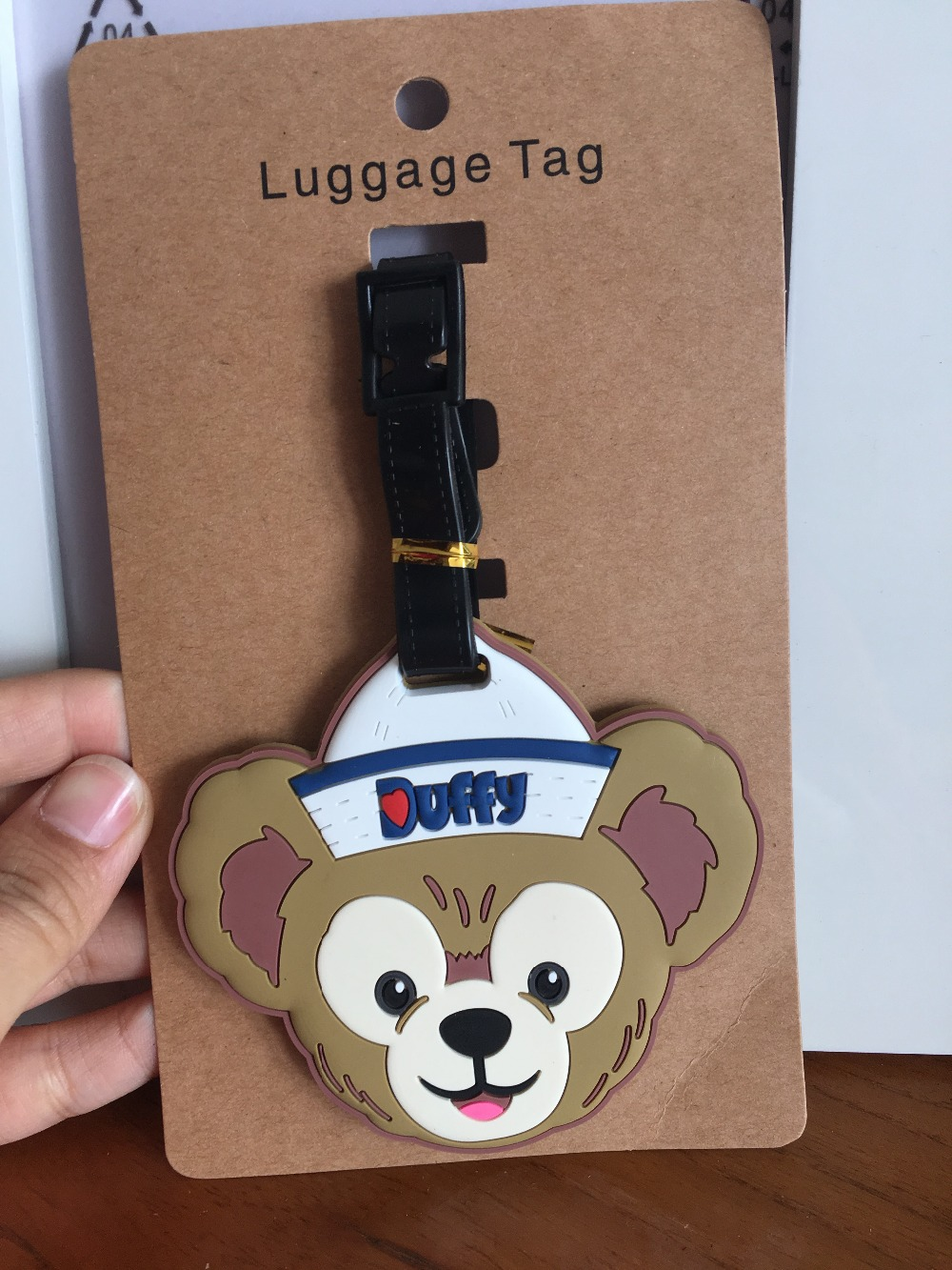Cartoon Cute Duffy Luggage Tag PVC Pendant Portable Travel Label Fashion Suitcase Decoration Suitcase ID Address Holder