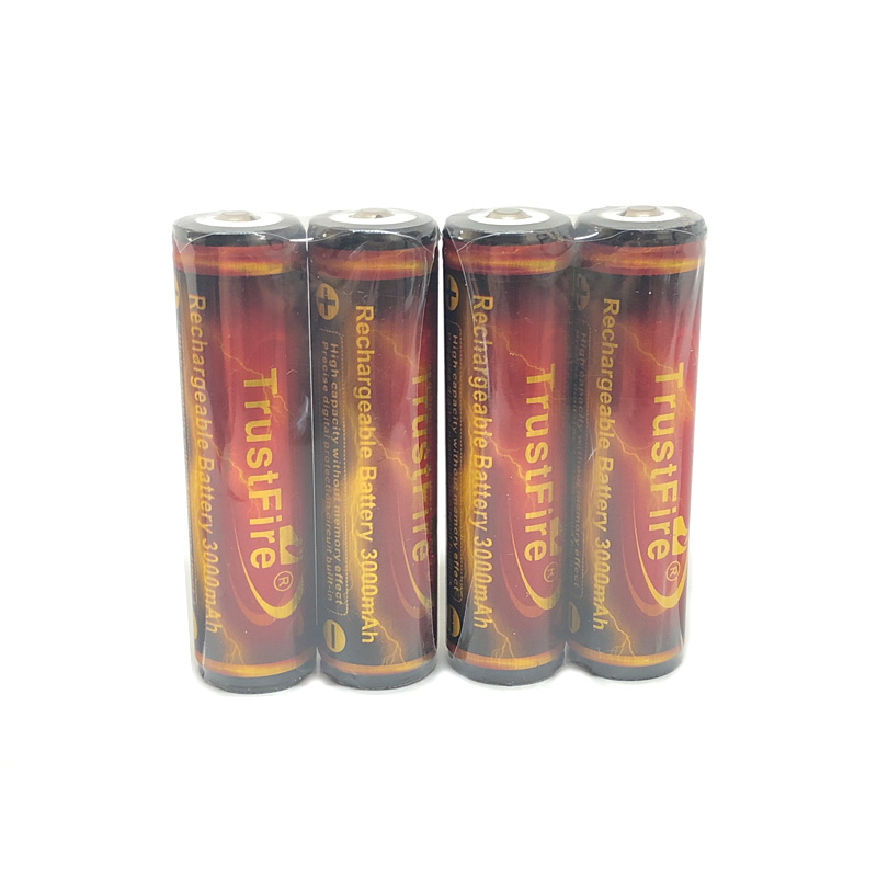 TrustFire Protected 18650 Battery 3.7V 3000mAh By Camera Torch Flashlight 18650 Rechargeable Batteries With PCB