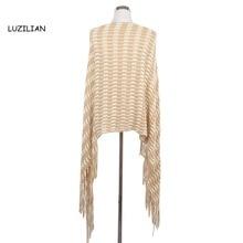 2016 Hot Sale Women Scarf Stole Acrylic Black&White Striped Tassel  Knitting Female Shawl Scarves Autumn Winter Wrap Ladies S358
