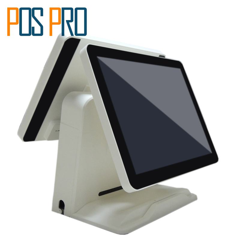IZP010 All in one POS  Capacitive Touch Screen POS Billing System Cash Register Supprot Arabic Spanish Russian French language nice white pos system 15 inch touch screen billing machine all in one pos restaurant cash register with free shipping