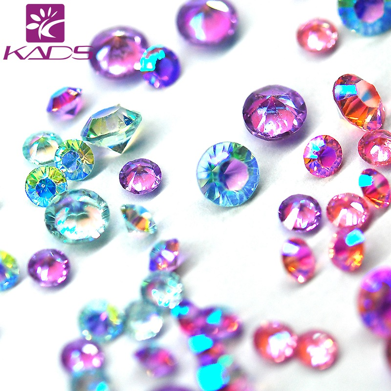 KADS 7 Size Nail Art Rhinestones for Nails Designs DIY Manicure Rhinestone Decor Nail Art Decorations Beauty Accessories 5 colors fish scale nail art sequins mermaid hexagon glitter rhinestones for nails for diy manicure nail art tips decorations