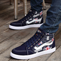 England Flag Hip Hop Canvas Shoes Boys Teenagers Punk 2016 High Top Flats Platform Fashion Casual Shoes Leisure Chassures Homme