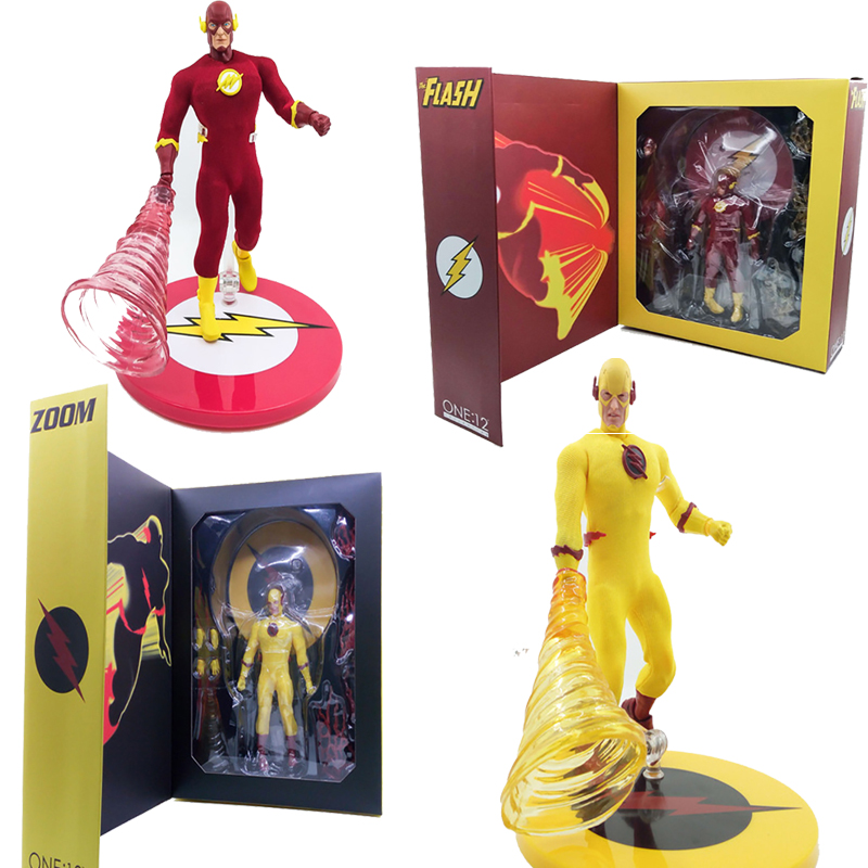 6inch 15cm Mezco One:12 The Flash DC Comics The Flash PVC Action Figure Model Toy Doll Gift image