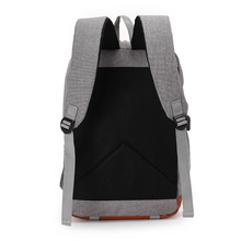 Vintage USB Charging Canvas Backpack