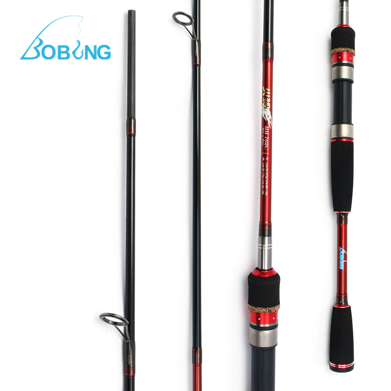 Bobing Lure Fishing Rod 2.1m 3 Sections 2 Tips M/ML Carbon Spinning Casting Hand Fishing Pole 28-227g Fish Lure Sturdy Reel Seat