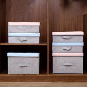 Image 3 - Compartimiento de armario de dibujos animados para el hogar, cajas de juguetes para el hogar, caja plegable de tela, compartimento de almacenamiento para tienda de ropa