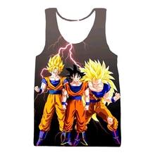 Dragon Ball Z Super Saiyan Goku Vegeta Majin Buu 3d Print Sleeveless Shirt Men Tank Top
