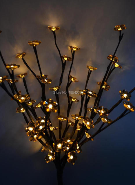 Led Electric Type Acrylic Flower Branch Light 20 60led Aa Standard Decoration With 3v Dc Adaptor