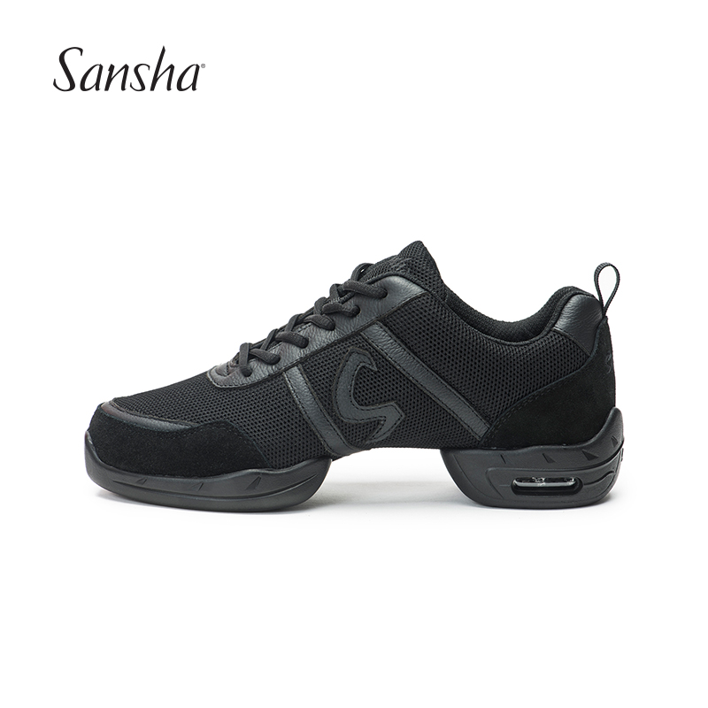 Sansha Dance Sneakers Air Mesh Upper PU Split sole Low top Lace Up Modern Dance Jazz