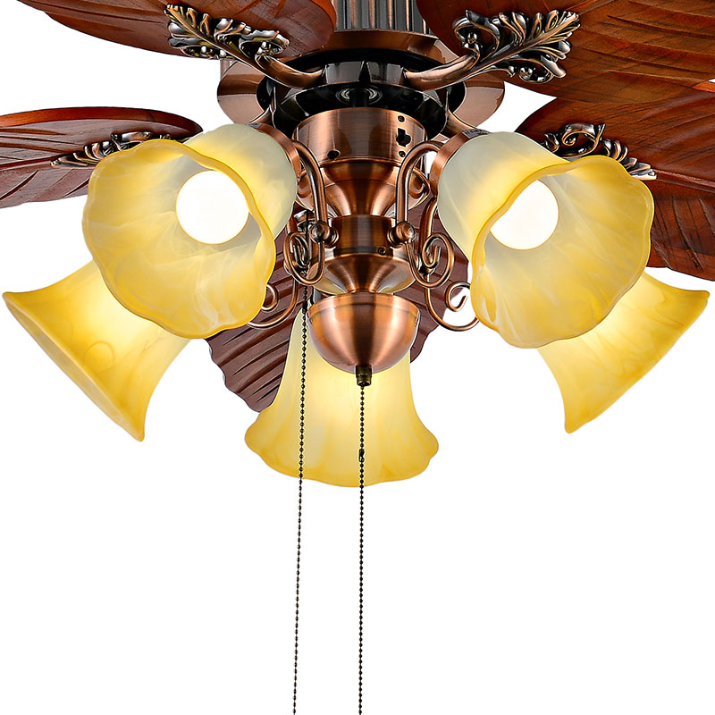 Ceiling Fan Huge Leaf Blades With Five Light Kits Pull Chain Control Outdoor Fans Hunter In From Lights Lighting