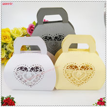 50Pcs/pack Lover Candy Holders Wedding Candy Box Sweets Gift Favor Boxes With Ribbon Wedding Supplies 5zSH149(China)