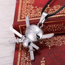 Anime One Piece Silver Metal Necklace