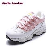 Новинка Горячая Распродажа зимние женские PU плюс бархатные теплые кроссовки спортивные туфли D195-3