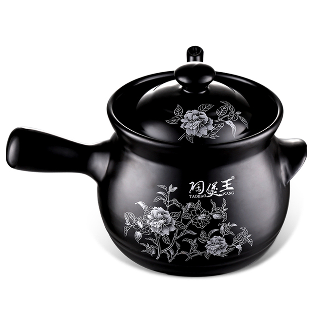 US $45 51 |New Arrival Gallipot Old School Black Enamelled Chinese  Traditional Medicine Pots Herbal Pots Brewing Medicines Ceramic Drug Pot-in  Thermal