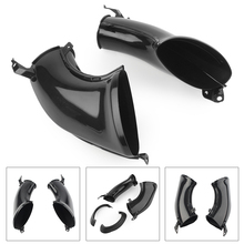 Motorcycle Ram Air Intake Tube Duct Cover Fairing for Yamaha YZF1000 YZF R1 1000 2007 2008 Black ABS Plastic 2pcs
