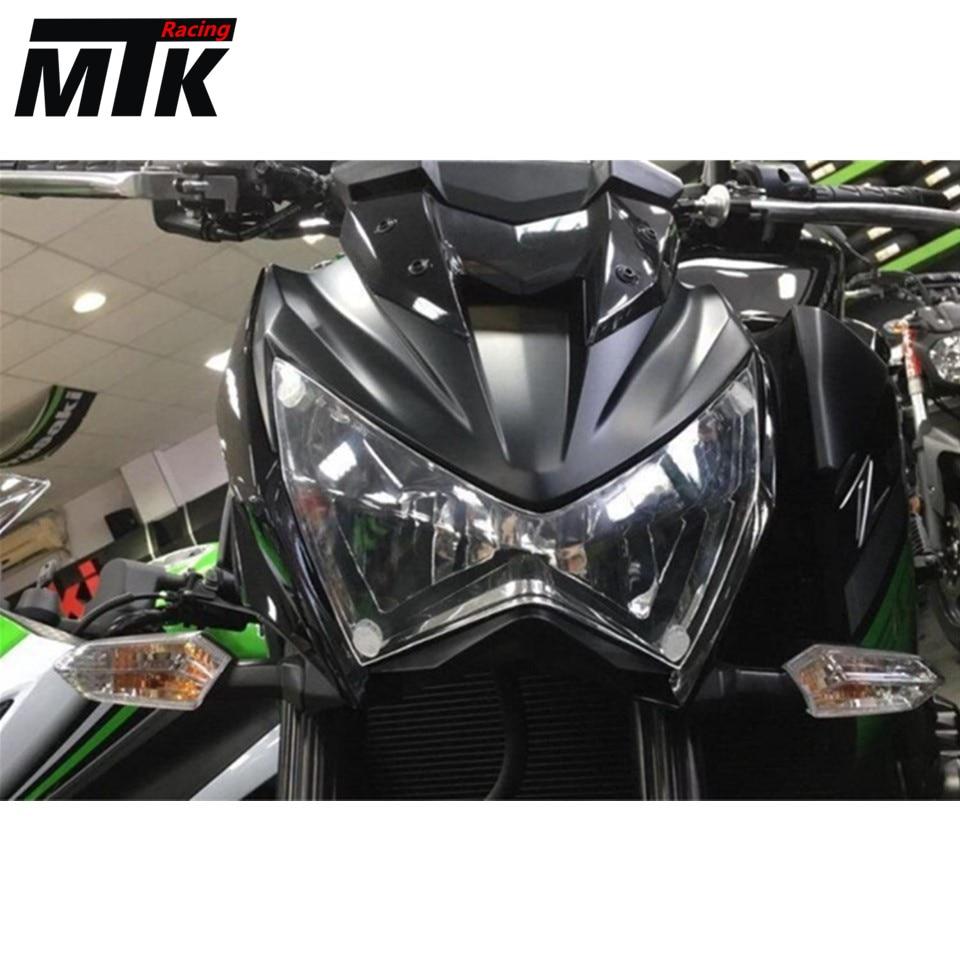 MTKRACING фары Защитная Крышка объектива экрана для Kawasaki z800 для Z300 2013-2016 2014-2016 акрил
