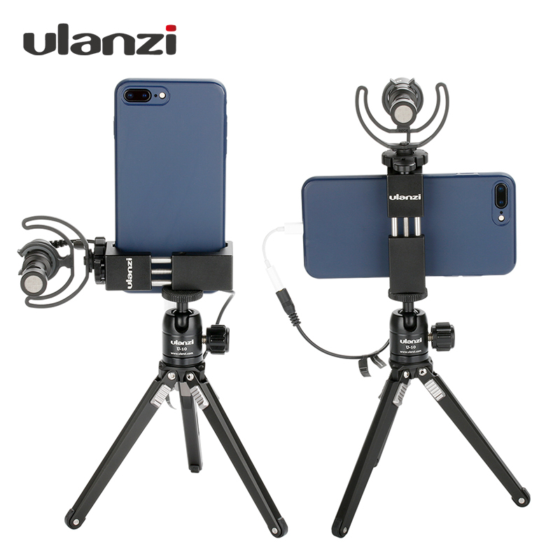 Ulanzi 360 Vertikal Telefon Tripod Mount Adapter til iPhone X 8 7 Plus Samsung Cold Shoe Mount Telefon Holder Håndholdt Video Rig