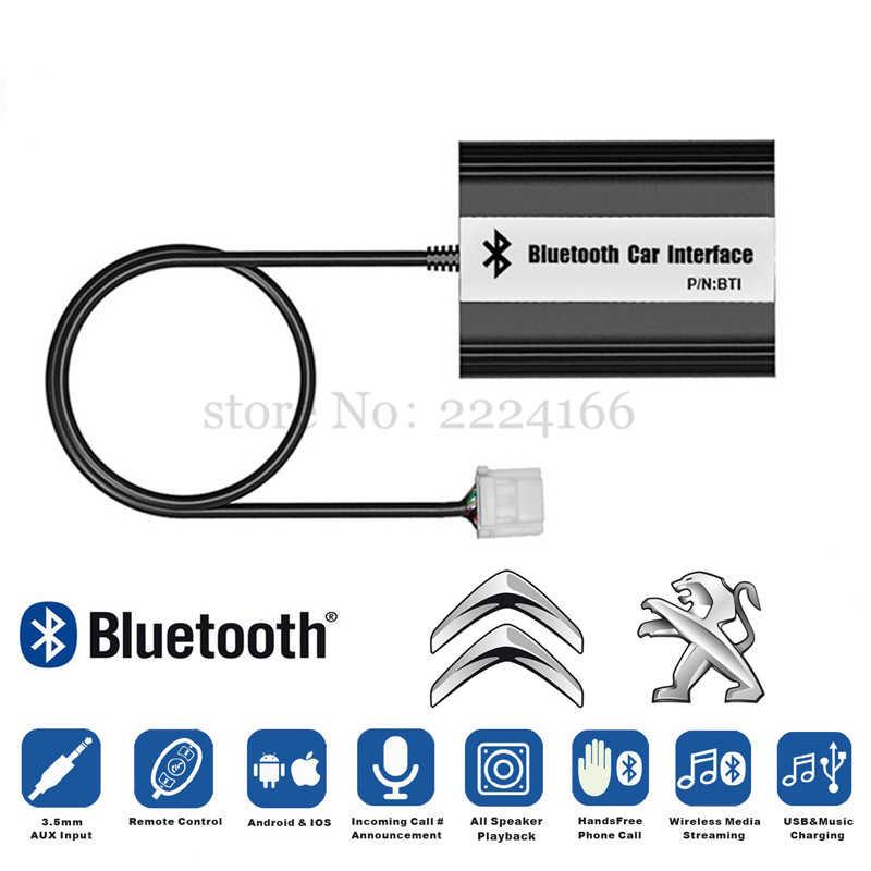 Lonleap nuevo Bluetooth coche A2DP MP3 música adaptador para Peugeot 207 Peugeot 307 RD4 Citroen RT4 C2 C3 12Pin interfaz USB cargador de Auto