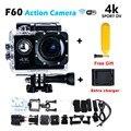 Go Pro hero 4 style Wi-Fi Спорт Действий Камеры 4 К F60 камера 30 М водонепроницаемая Камера 1080 P HD камера + Зарядное Устройство + Бесплатная Доставка