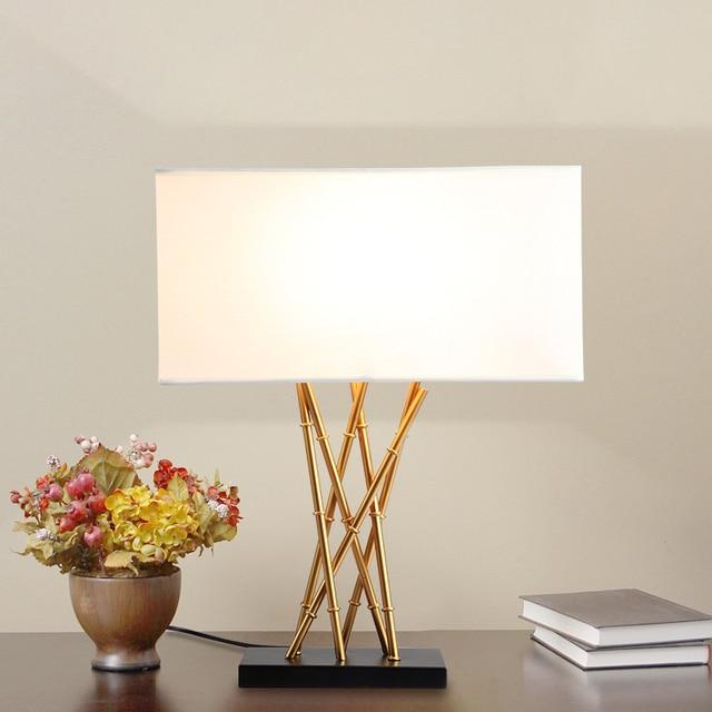 Led Tisch lampe Lustre Bambus Tisch Lampen Für Wohnzimmer ...