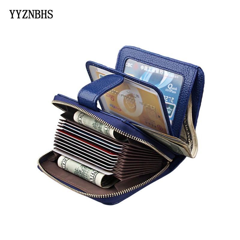 Genuine Leather Women Wallet Hasp Small Slim Coin Pocket Purse Women Wallets Cards Holders Luxury Brand Wallets Designer Purse