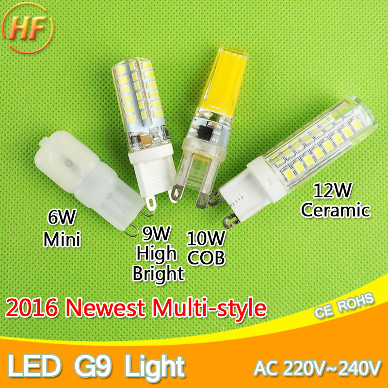 Dimmable COB 220V LED G9 Bulb 6W 7W 9W 10W 12W LED Corn Light Replace Halogen Lamp Led Light Spot Crystal Chandelier 2835 3014 top quality 1508 cob g9 2w 220v dimmable corn light bulb led chandelier crystal lamp art galleries crystal lamps
