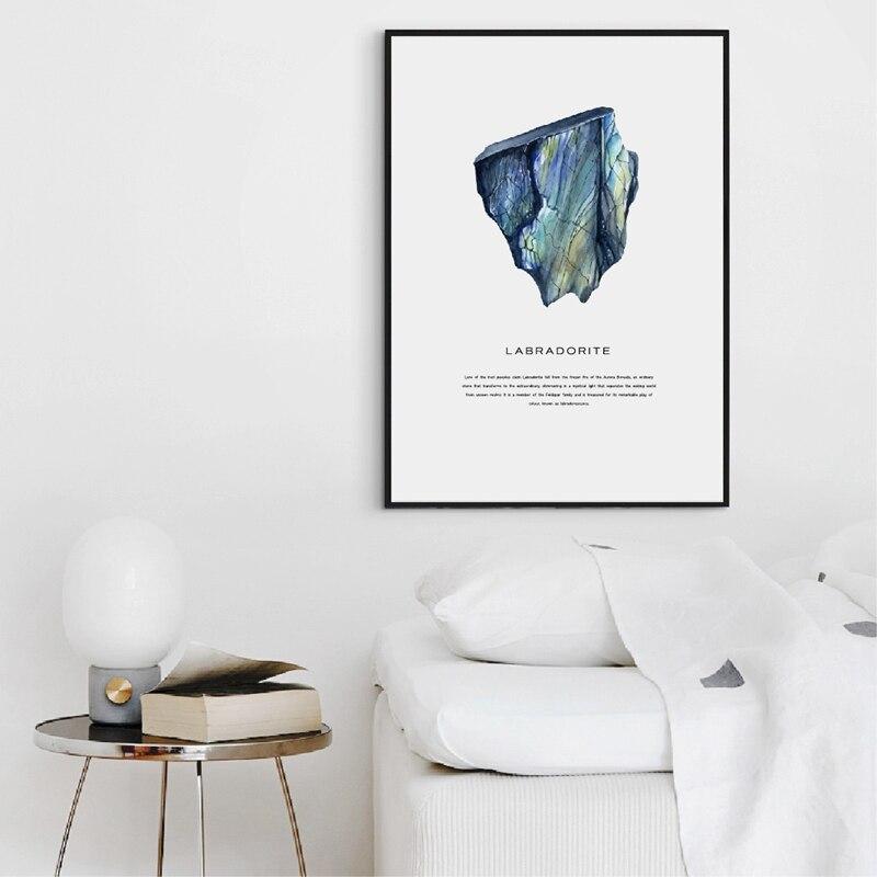 Watercolor Crystals Canvas Print