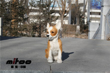 cute simulation Chihuahua dog toy lovely sitting chihuahua fur& polyethylene doll about 19x8x18cm