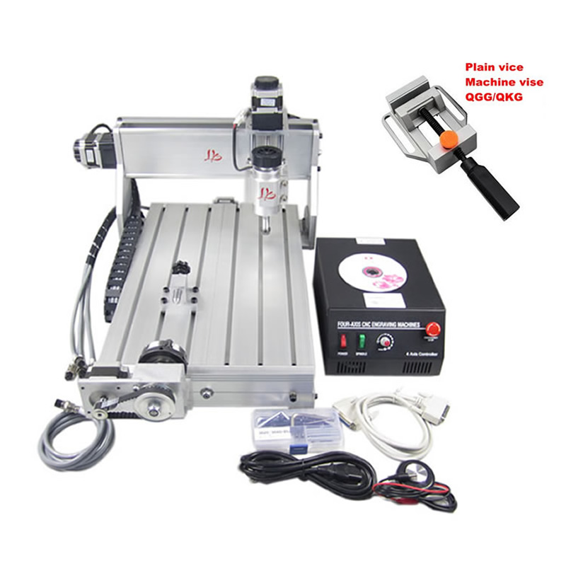 4 Axis CNC 3040 Z-DQ Drilling Milling Machine CNC Wood Router With 4th Rotary Axis 3D CNC Engraving Machine 4 axis cnc machine cnc 3040f drilling and milling engraver machine wood router with square line rail and wireless handwheel