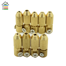 9pc/Set Mini Small Electric Motor Shaft Clamp Fixture Chuck Collet 2.3mm and 3.17mm Brass For 0.7mm-3.2mm Drill