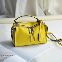 Zuid-korea import head laag koeienhuid handtas match soft real leer omzoomd mini crossbody tassen