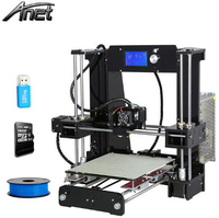 Good Compatibility Anet A8/A6/A2/A3S/E10 3D Printer High Resolution Reprap Prusa i3 DIY 3D Printer Kit 1.75mm Filament