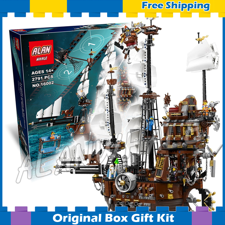 2791pcs Movie Series Pirates of the Caribbean 16002 Metal Beard's Sea Cow Model Building Blocks Sets Toys Compatible With Lego lepin 16002 22001 16042 pirate ship metal beard s sea cow model building kits blocks bricks toys compatible with 70810