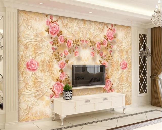 Beibehang d carta da parati di marmo modello rilievi rosa