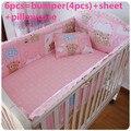 Promoção! 6/7 PCS Bebê Pára de cama Berço Do Bebê, Bumper Filler e Folha, Sono Do Bebê, 120*60/120*70 cm