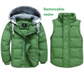 2016 Boys Winter Jackets Removable Kids Down Parkas Vest 3-11Y Children's Hooded Coats Kids Thick Thermal Outwear Outdoor SC596