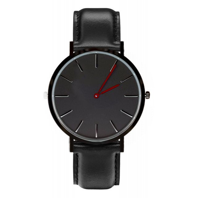 Black Case Black Dial Face Design Watches Quartz Movement