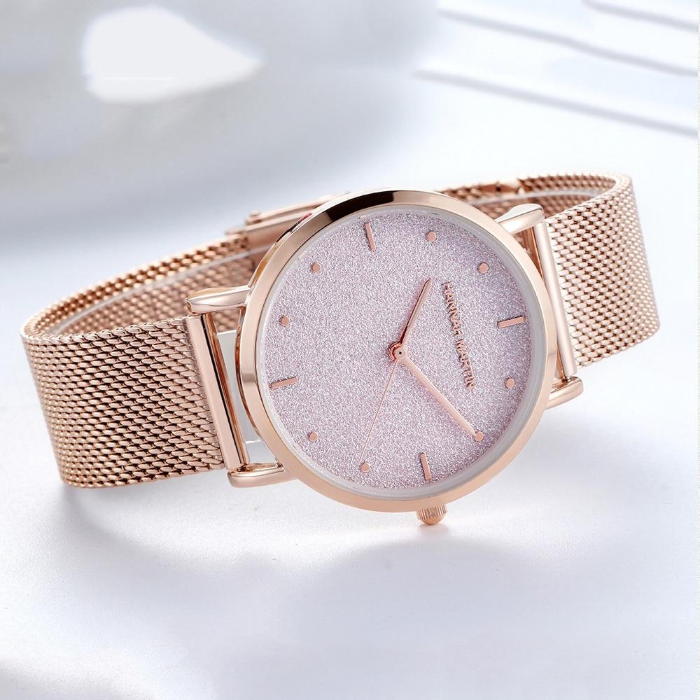 Luxury Women Wrist Watches Top Brand Fashion Starry Sky Ladies Clock Rose Gold Mesh Steel Waterproof Female Watch 2019 Best Gift in Women 39 s Watches from Watches