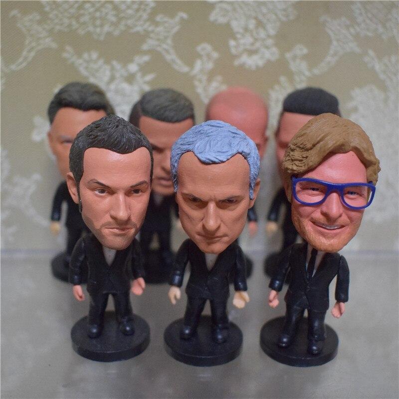 Soccerwe 6.5 cm Height Soccer Cartoon Star Dolls Conte Lampard Guardiola Klopp Zidane Mancini Figurines Toy Christmas Gift