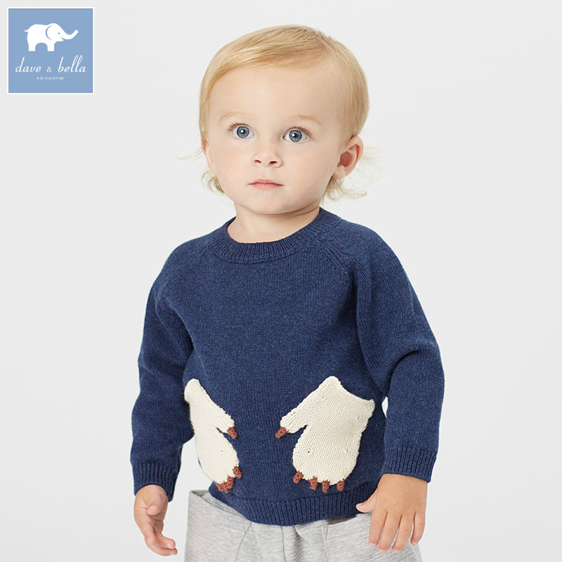 DB5897 dave bella autumn infant baby boys cotton pullover sweater lovely clothes toddler children knitted Sweater db2315 dave bella autumn winter baby boy turtleneck sweater infant clothes toddle cotton wool sweater boys plum sweaters