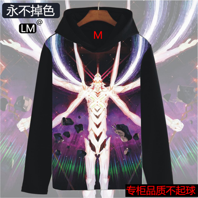 Anime Neon Genesis Evangelion Cosplay EVANGELION  Cos Halloween Autumn And Winter Long-sleeved thick Hoodies