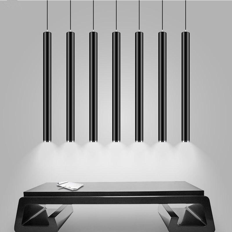 Moderno led pingente luzes cob lâmpada pingente 3 w longo tubo para baixo luz ilha barra counte loja sala cozinha lâmpada pendurada luminária
