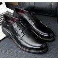 Primavera e no Outono tamanho grande sapatos derme sapatos de Trabalho dos homens Flats Business casual shoes Tamanho 38-47 48 chaussure Herrskor obuv