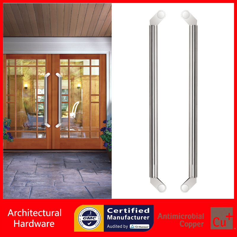 800mm Length 304 Grade Stainless Steel Pull Handle Entrance Door Handles Available For Glass/Wooden/Frame Doors PA-135 antimicrobial environmental wood pull handle pa 710 entrance door handles for entry glass shop store doors