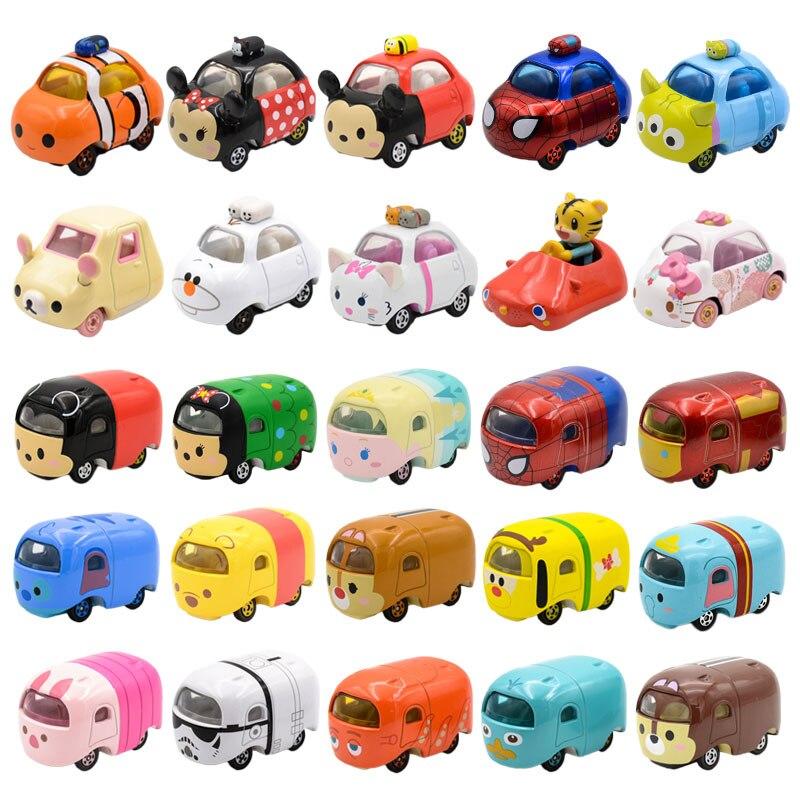 Tomica Car Mickey Snoopy Elsa Anna Minnie Stitch Winni Diecast  Toys Metal Model Car