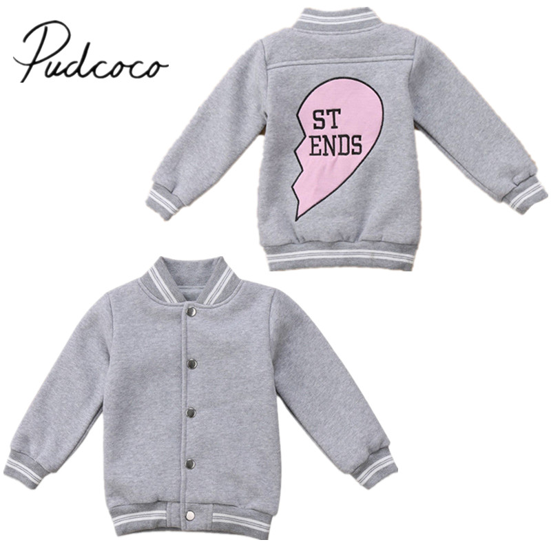2018 Brand New Toddler Infant Kid Baby Boy Girl Jacket Coats Children Warm Winter Outerwear Kids Best Friend Match Clothes 6M-5T image