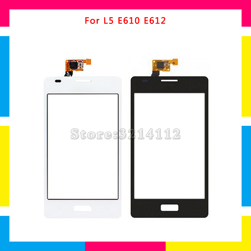 Replacement Touch Screen Digitizer Sensor Outer Glass Lens Panel For LG Optimus L5 E610 E612 or Dual E615 Black White