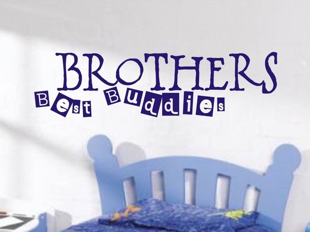 Merveilleux Brothers Best Buddies Wall Art Sticker Quote Childrens Room / Boys Bedroom  Wall Decals 3 Sizes