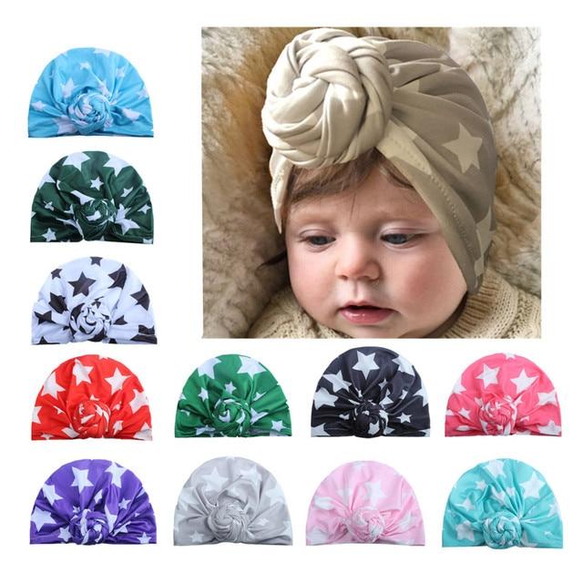 ON SALE 1PCS Children Winter Warm Hats India Cap for Kid Turban Hats Star  Knot Skullies Beanie Girl Head Wrap Bohemian Cap 721b647c1b6